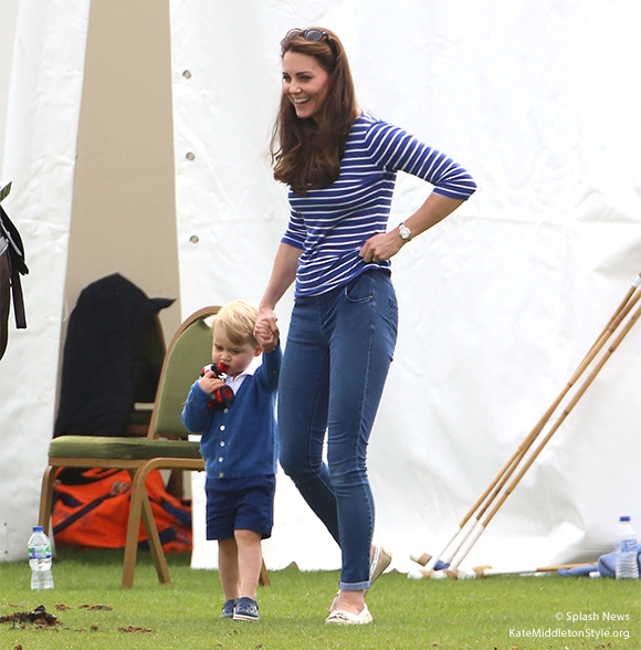 Kate and George at the polo