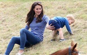 Kate takes Prince George to watch Daddy play polo