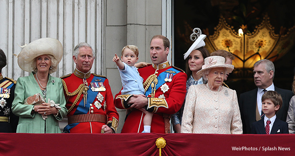 Prince George on the Balcony with the Royal Family at Trooping the Colour 2015