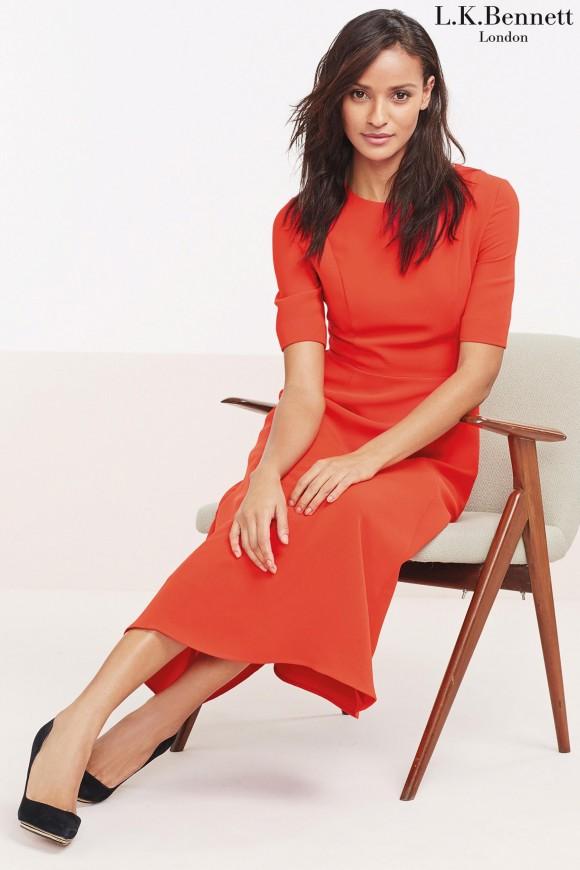 LK Bennett Cayla Red Dress in Next