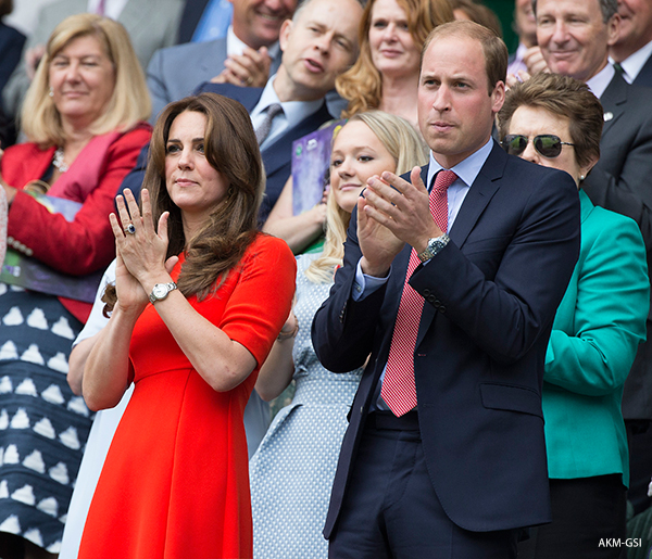 Kate Middleton attends Wimbledon with husband William
