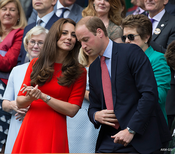 Kate wows in red LK Bennett dress at Wimbledon
