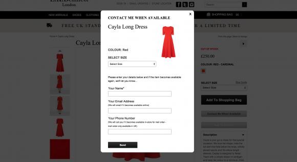 register your interest for the LK Bennett Cayla dress