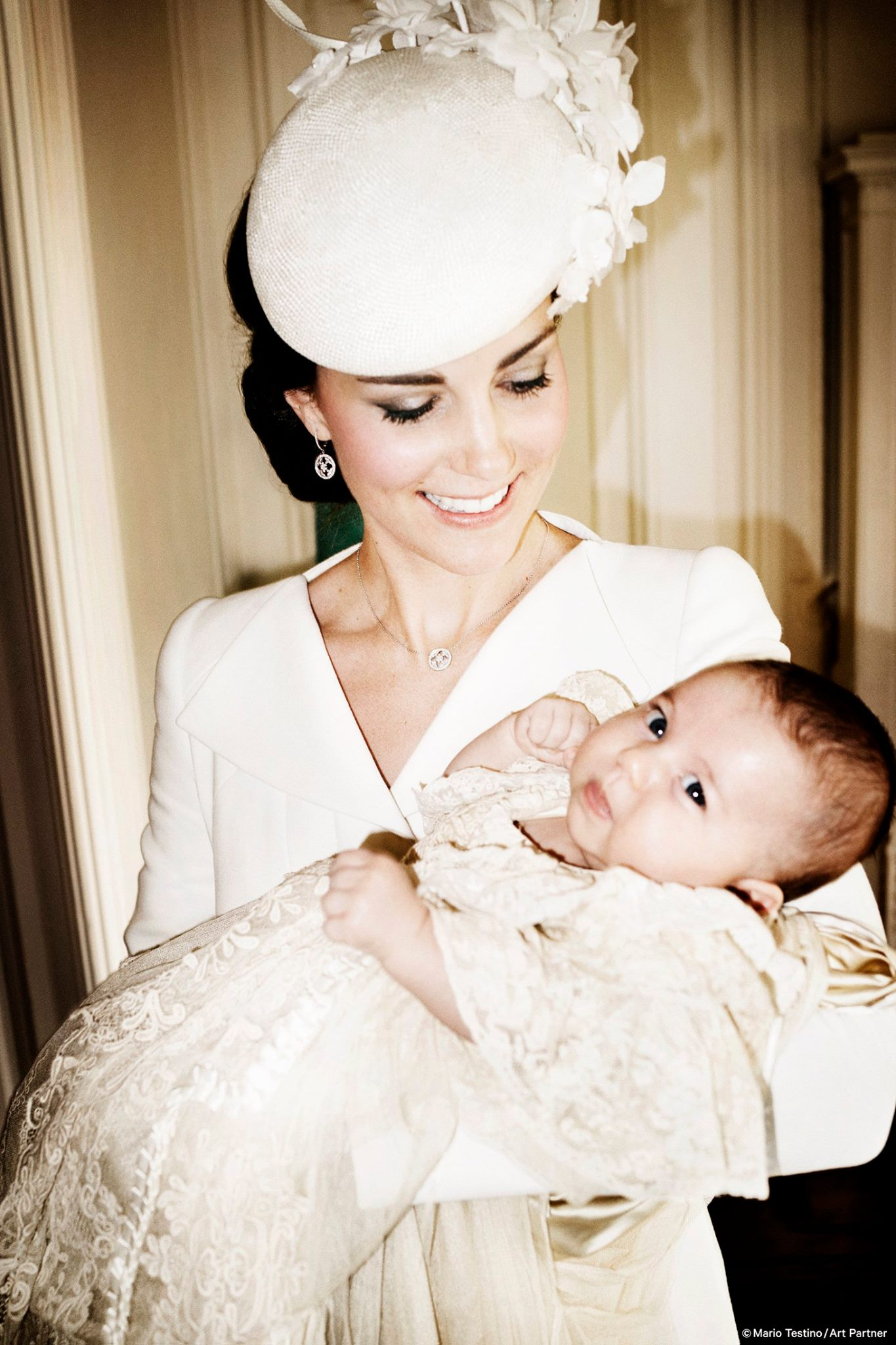 Catherine and Princess Charlotte after the christening