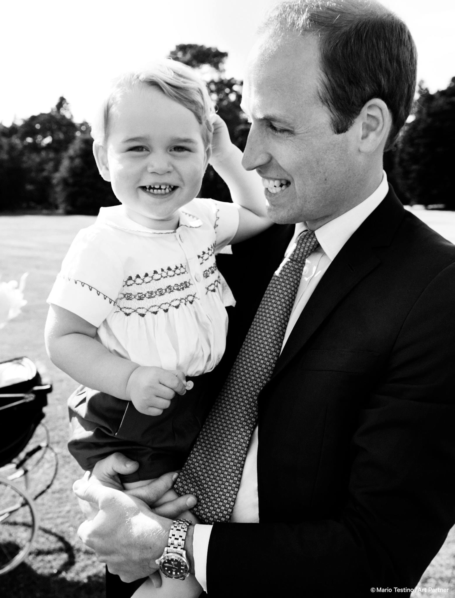 William and George after Princess Charlotte's christneing