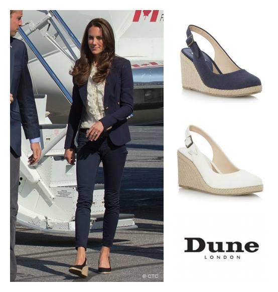 Kate Middleton wearing Dune Imperia wedges