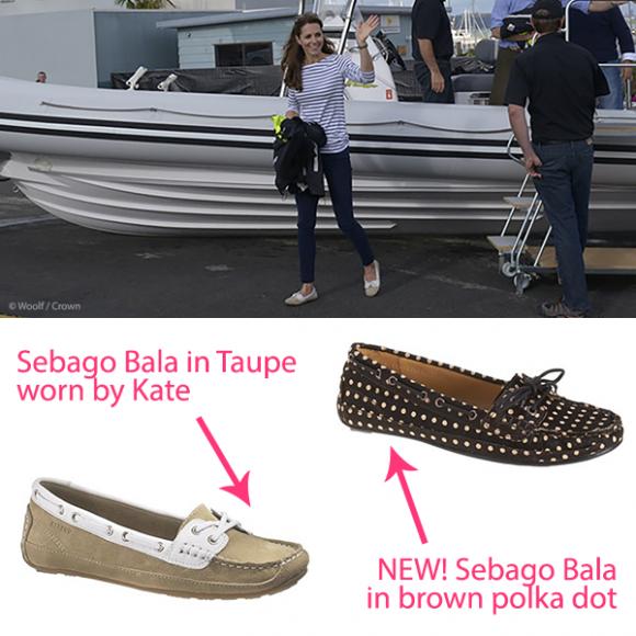Kate Middleton wears Sebago Bala