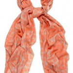 Beulah London Shibani scarf in orange