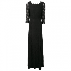 DVF Zarita Lace Gown in Black
