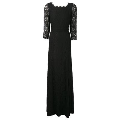 DVF Zarita Lace Gown in Black