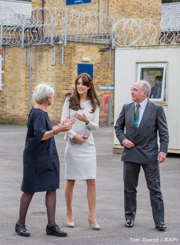 Kate Middleton wore a grey dress by The Fold for the visit