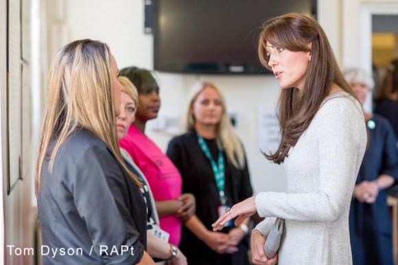 The Duchess of Cambridge visited Send Prison with charity RAPt