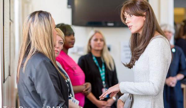 Kate visits Send Prison in Surrey and debuts new dress from The Fold