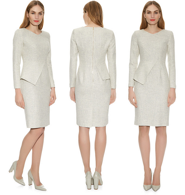 The Fold Eaton Dress in Winter White