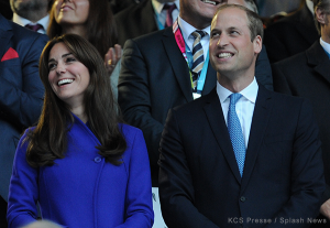 Duchess in blue Reiss coat for Rugby World Cup opening ceremony