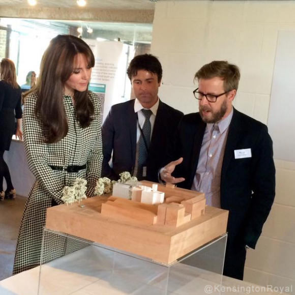 Kate Middleton at the Anna Freud Centre today