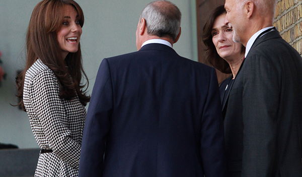 Duchess wears Ralph Lauren houndstooth dress for Anna Freud centre visit