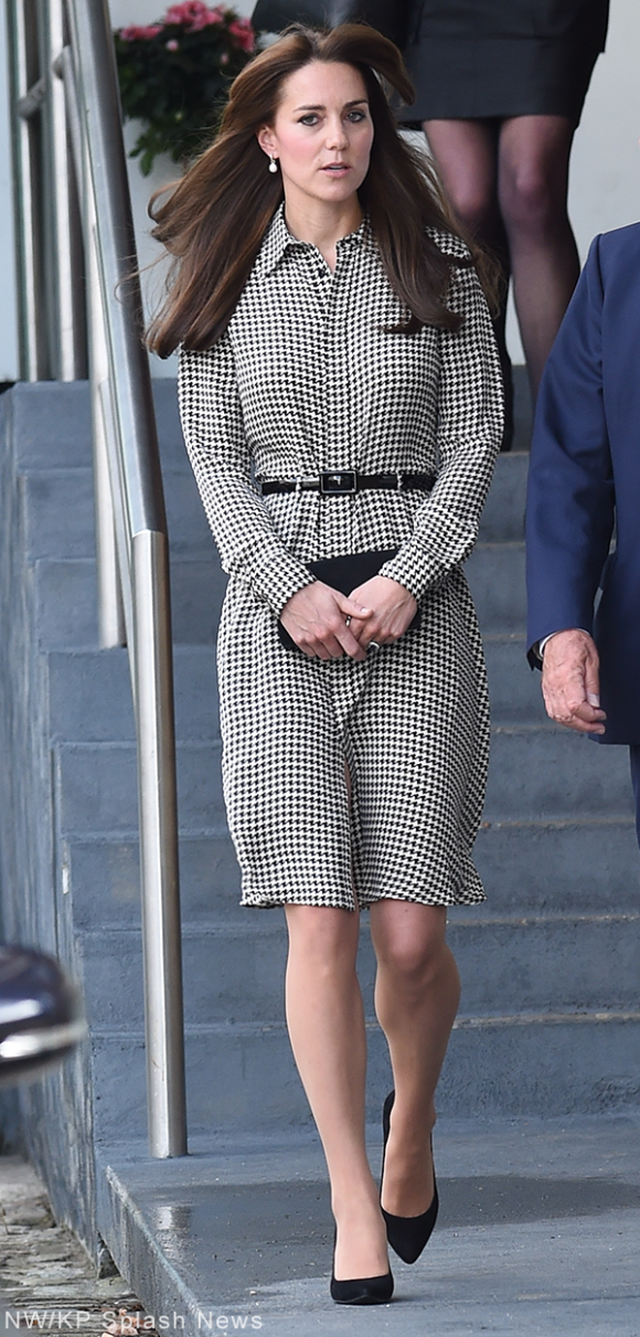 Kate Middleton visits the Anna Freud Centre wearing Ralph Lauren