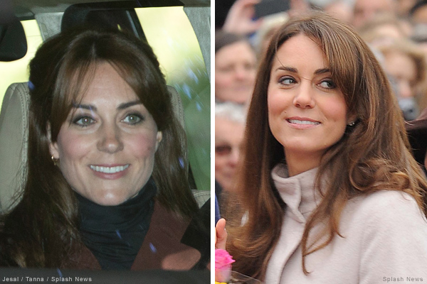 Kate Middleton with bangs (or fringe as we say in the UK)