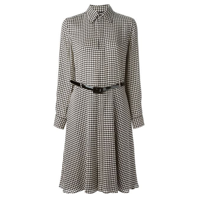 cf60e5e8 Ralph Lauren silk Austin houndstooth print shirtdress worn by Kate ...
