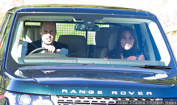 William and Kate drive from Balmoral Castle