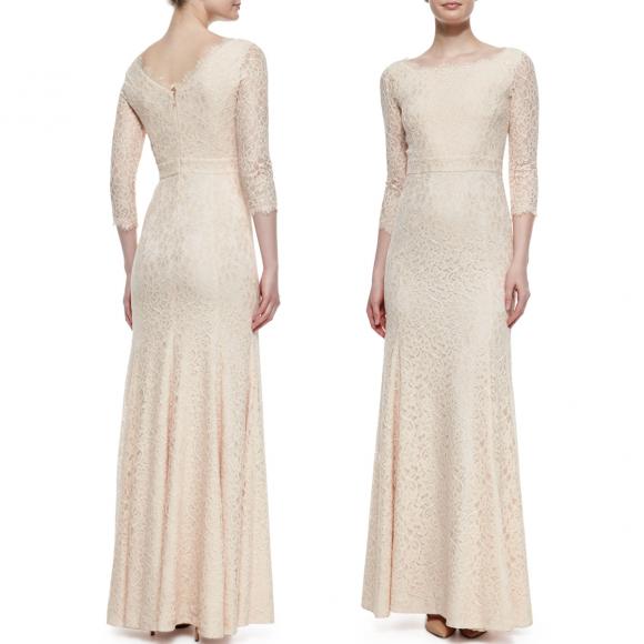DVF Zarita lace gown in cream
