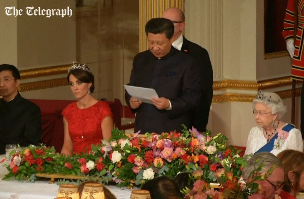 Kate stuns in red dress & tiara for State Banquet