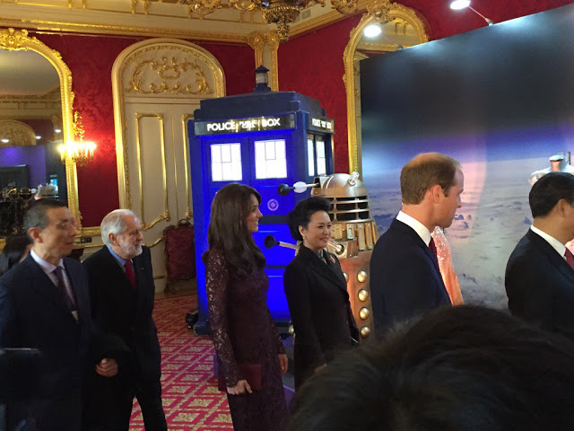 Duchess of Cambridge sees the Dr Who Tardis
