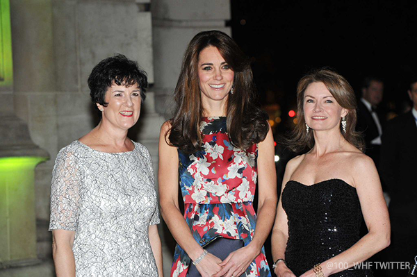 Kate attends 100WHF Gala in printed floral Erdem dress