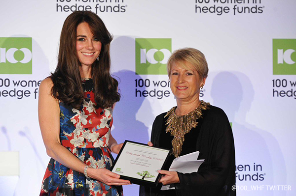 Kate presenting an award at this years 100 WHF gala dinner