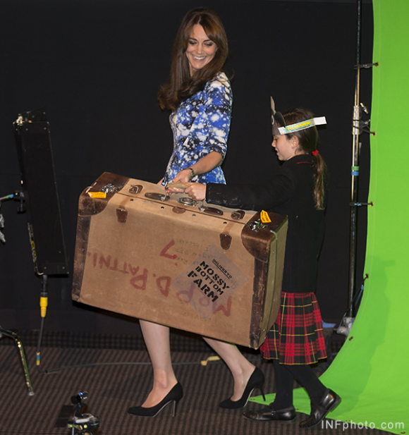 Kate filmed by Aardman as she takes part in animation masterclass