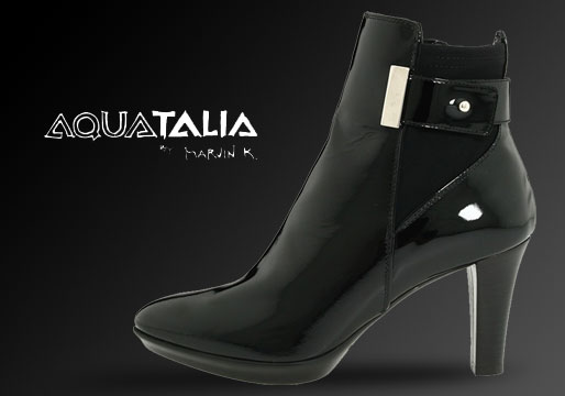 Aquatalia Rouge boots in black leather