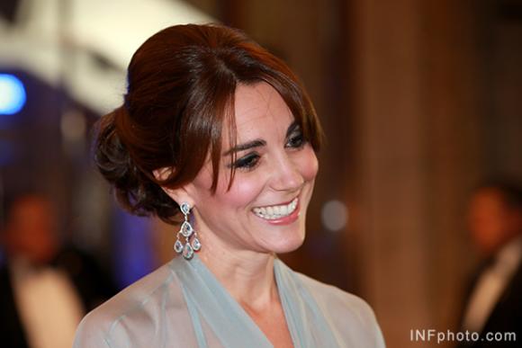 Duchess of Cambridge wears Robinson Pelham earrings to the Spectre premiere
