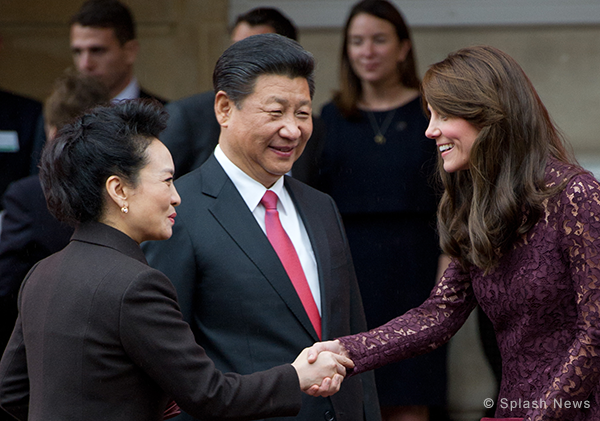 """Duke and Duchess attend a """"creative industries"""" event with the Chinese President and his wife"""