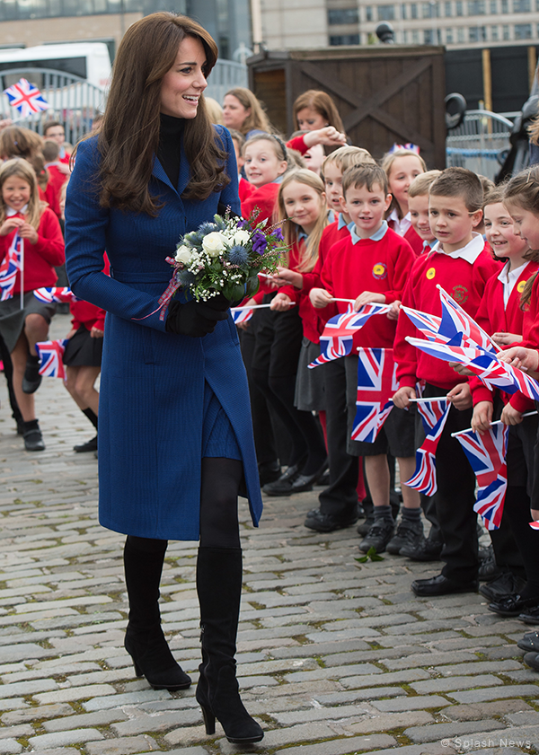 Duchess of Cambridge meets local children from Dunblane school