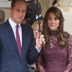 Duchess looks polished in purple Dolce & Gabbana dress