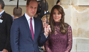 Duchess looks polished in purple Dolce & Gabbana dress