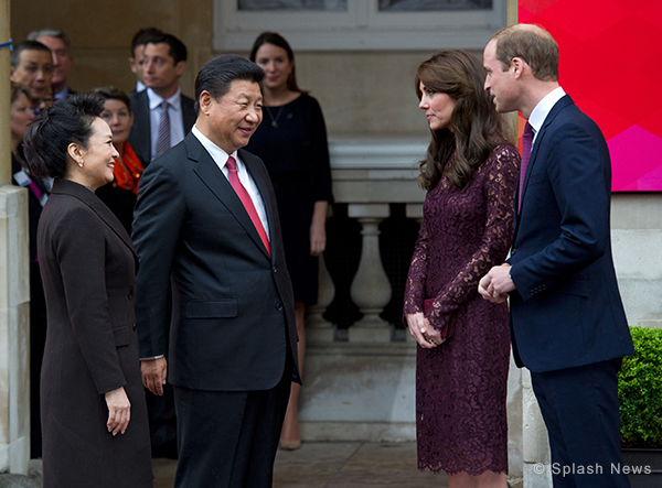 "Duke and Duchess attend a ""creative industries"" event with the Chinese President and his wife"