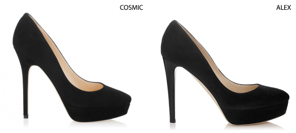 Jimmy Choo Cosmic and Alex comparison