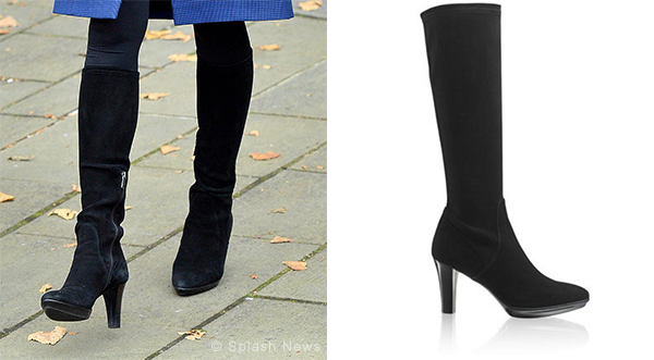 Kate Middleton wears Aquatalia Rhumba boots in black suede