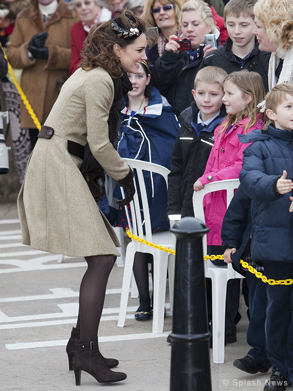 Kate Middleton wears Aquatalia Rogue Boots in Anglesey