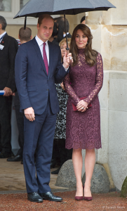 Duchess of Cambridge wears Gianvito Rossi pumps in purple