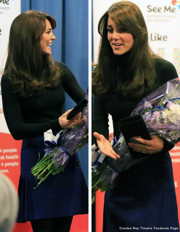 Kate Middleton wore a kilt in Scotland today