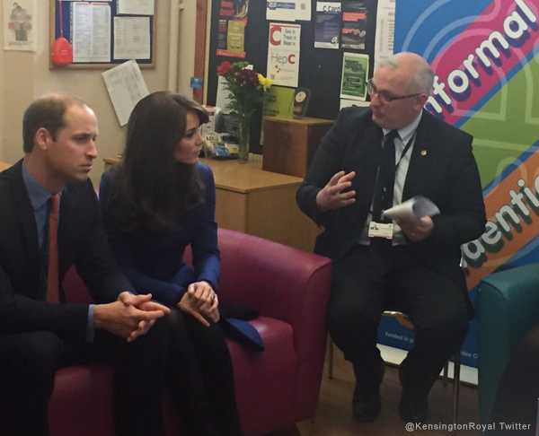 William and Kate at the anti bullying workshop in Dundee