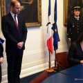 The Duke and Duchess of Cambridge visit French Embassy in London to sign a book of condolence