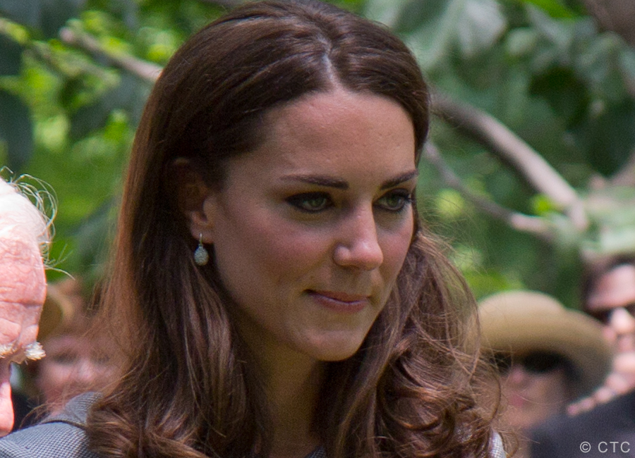 Kate Middleton wearing the Hope Egg earrings in Canada