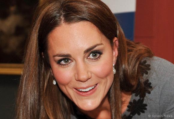Kate Middleton wearing the Links of London Hope Egg earrings