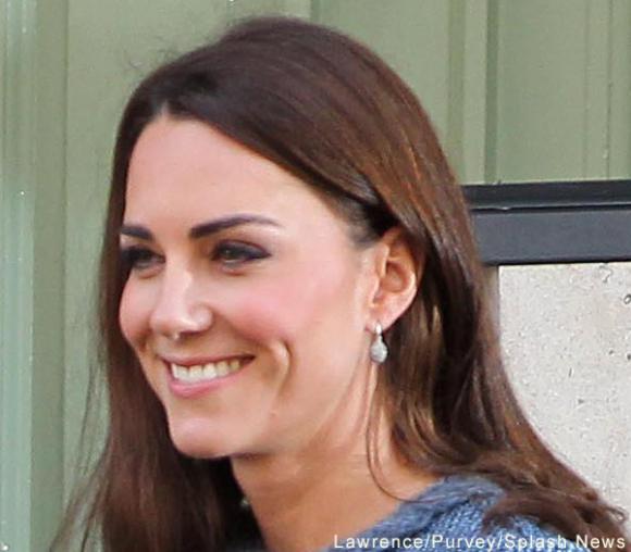 Kate Middleton wearing her Links of London Hope Egg earrings in London