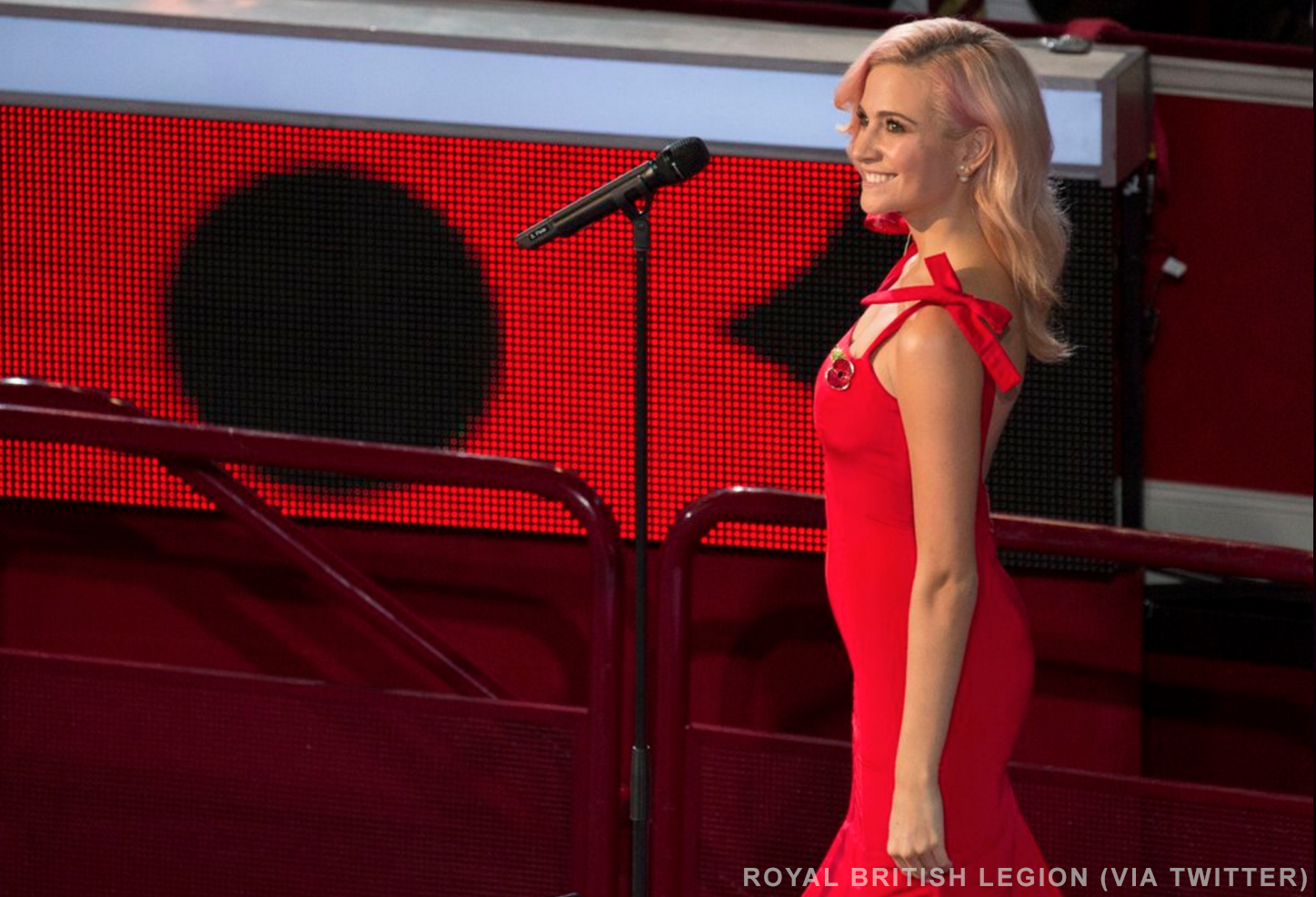 Pixie Lott at the Festival of Remembrance
