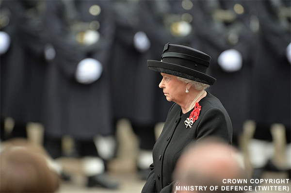 The Queen on Remembrance Sunday